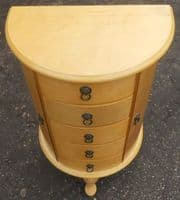 Jewellery Blond Wood Chest of Drawers
